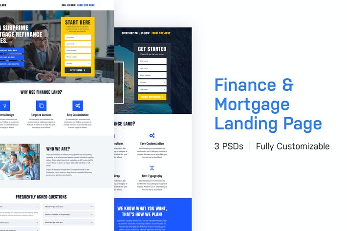 Cover Image For Finance Land - Finance and Mortgage Landing Page