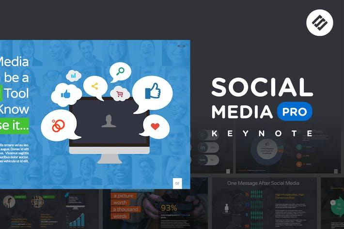 Thumbnail for Social Media PRO - Keynote Template