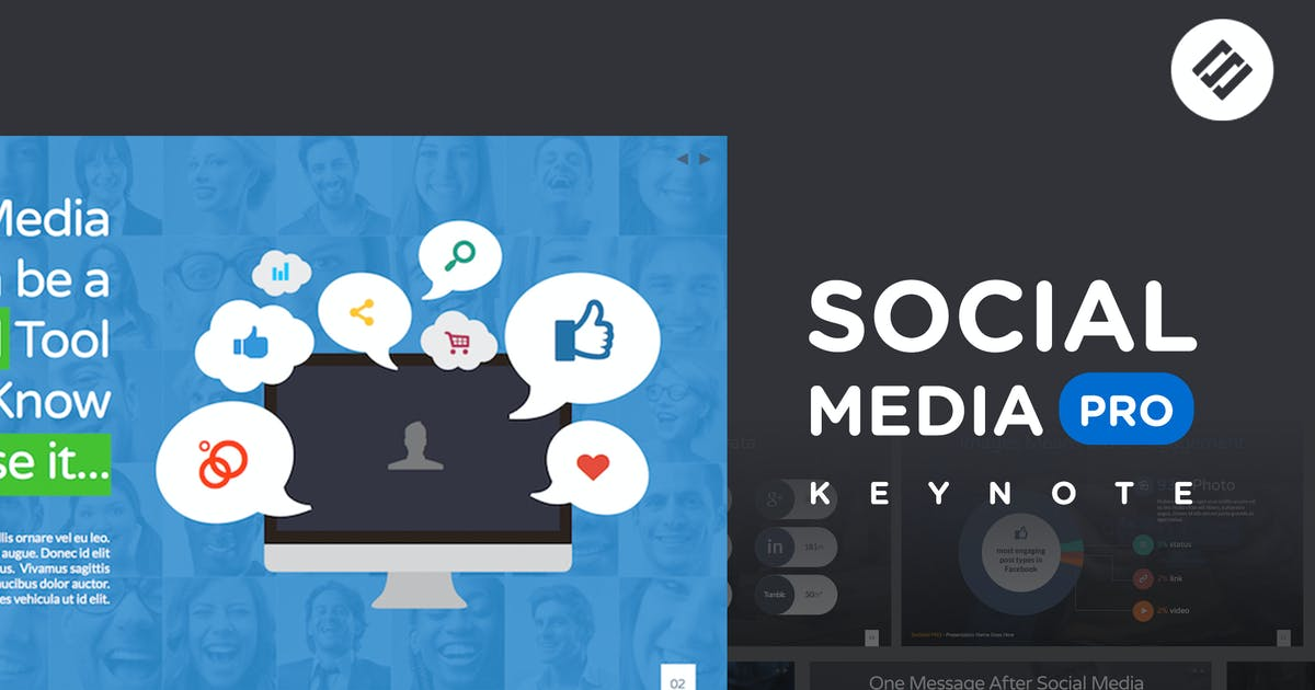 Download Social Media PRO - Keynote Template by Unknow