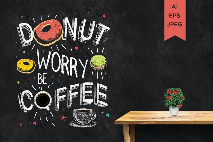 Thumbnail for donut worry be coffee