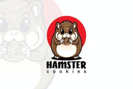 Hamster Cookie Mascot Logo