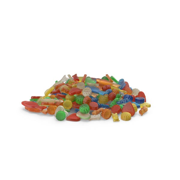 Pile Of Mixed Gummy Candy