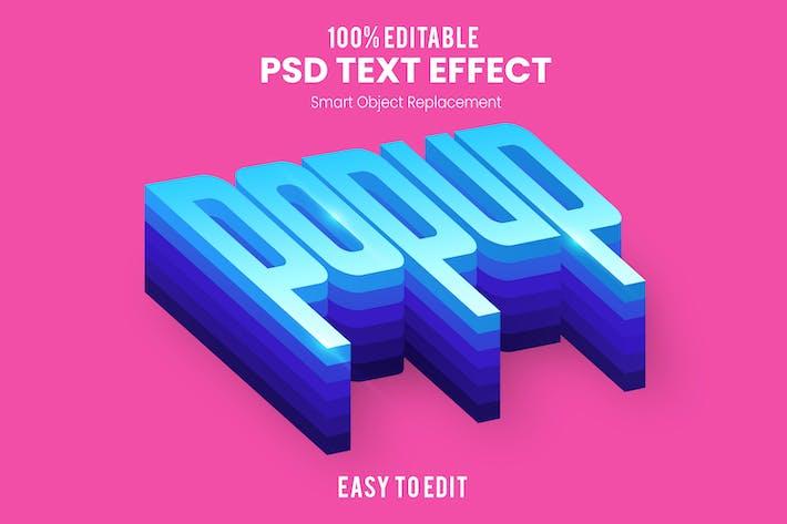 Popup 3D Text Effect PSD