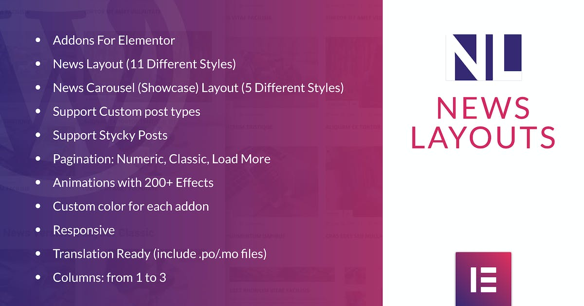 Download News Layouts for Elementor WordPress Plugin by ad-theme