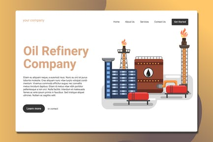 Oil Rig - Landing Page