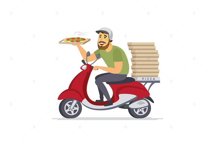 Thumbnail for Delivery man - cartoon character illustration