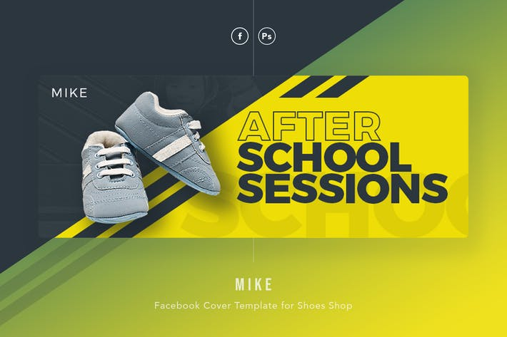 Cover Image For Mike - Kids Shoes Facebook Cover Template