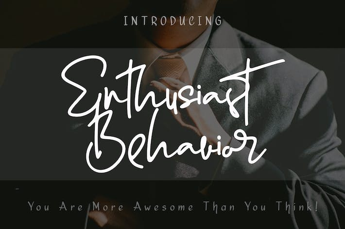 Thumbnail for Enthusiast Behavior - Fuente de firma elegante