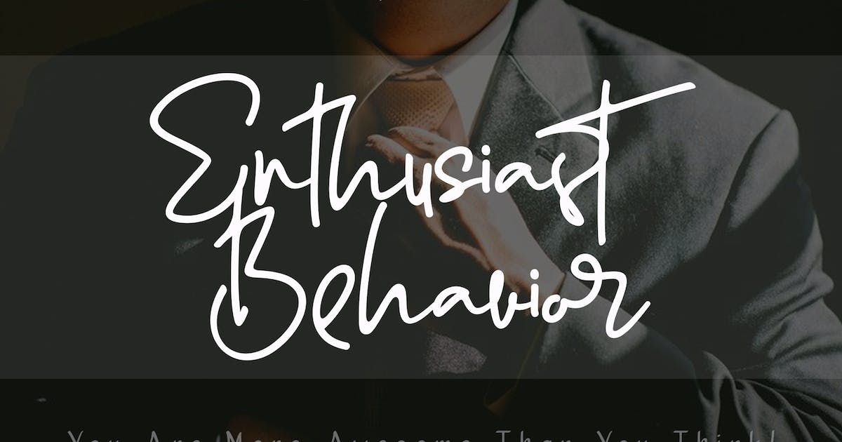 Download Enthusiast Behavior - Stylish Signature Font by aldedesign