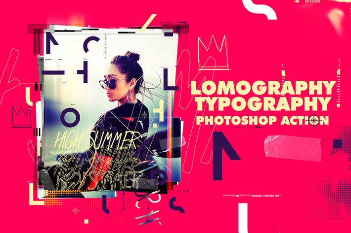 Thumbnail for Lomography Typography Poster Photoshop Action