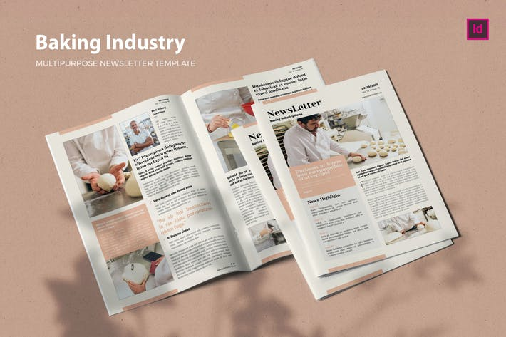 Thumbnail for Baking Industry - Newsletter Template