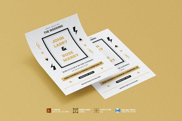 Wedding Invitation Flyer Template Vol. 05