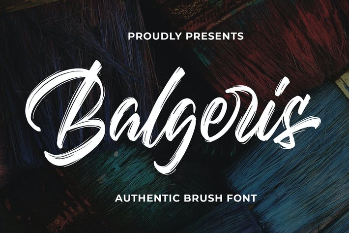 Thumbnail for Balgeris - Аутентичный шрифт кисти