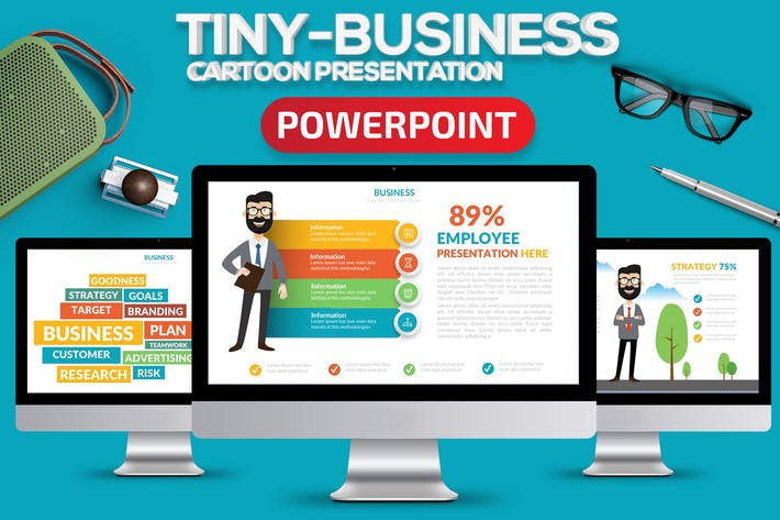 Thumbnail for Маленький бизнес Powerpoint в настоящее время