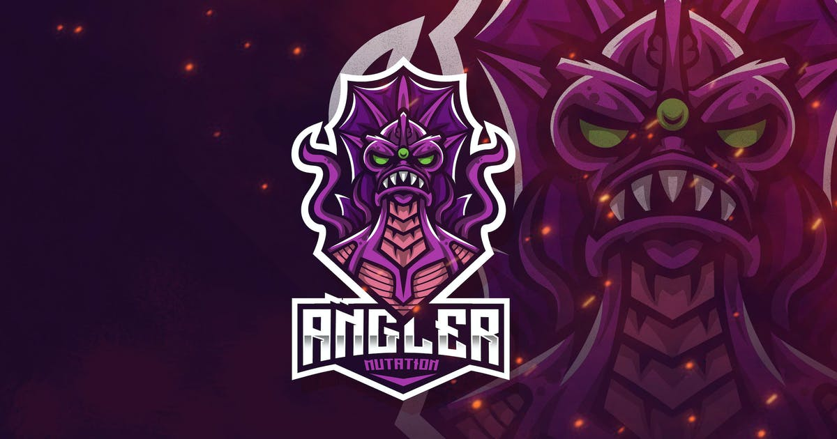 Download Angler Mutation Esport Logo Template by StringLabs