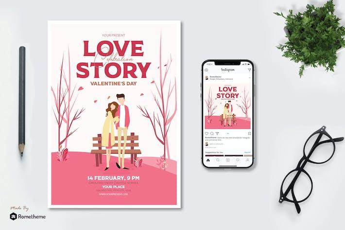 Thumbnail for Histoire d'amour Saint Valentin - dépliant AS