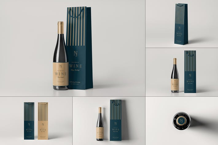 Thumbnail for Wine Bag & Bottle Mock-up 2