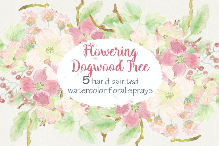 Thumbnail for Set of 5 Sprays of Dogwood Tree Flowers