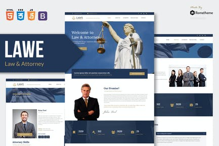 LAWE - Lawyer and Attorney HTML Template RS