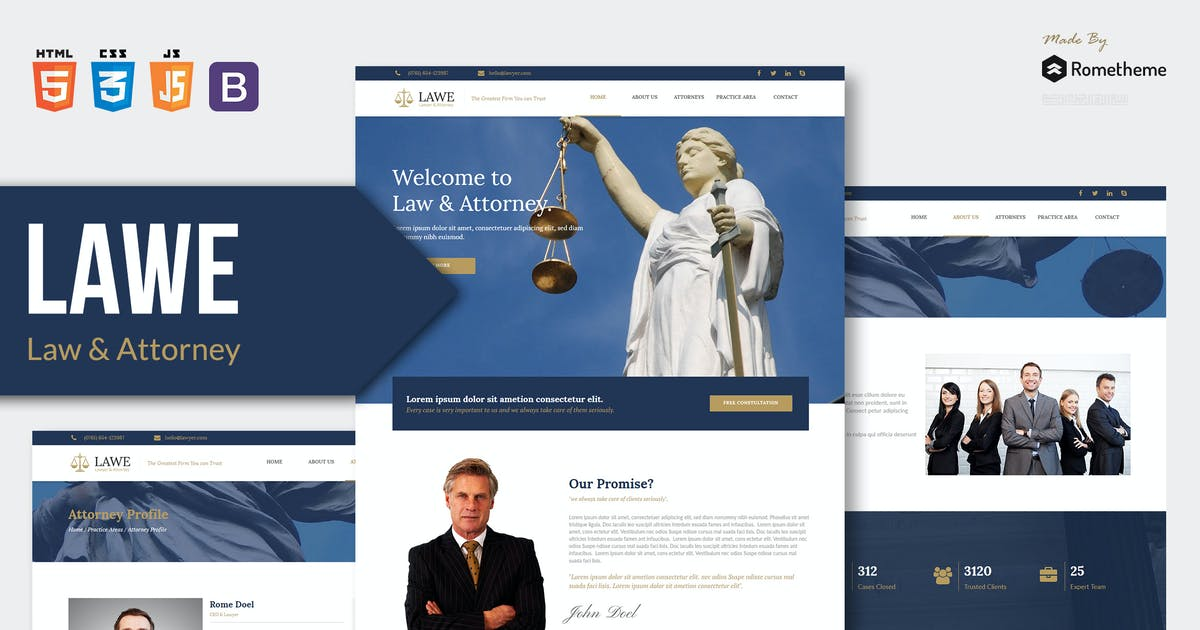 Download LAWE - Lawyer and Attorney HTML Template RS by Rometheme