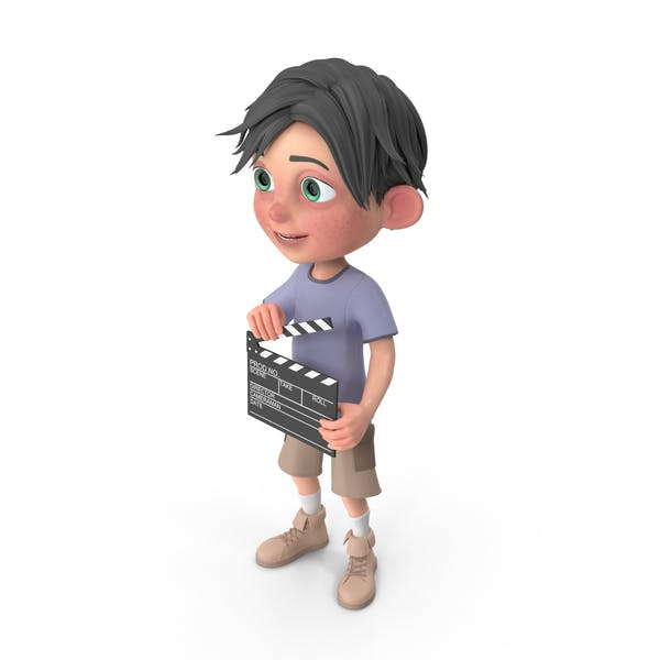Thumbnail for Cartoon Boy Jack Using Clapboard
