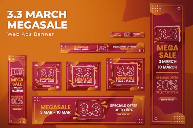 3.3 March Megasale - Web Ads Banners