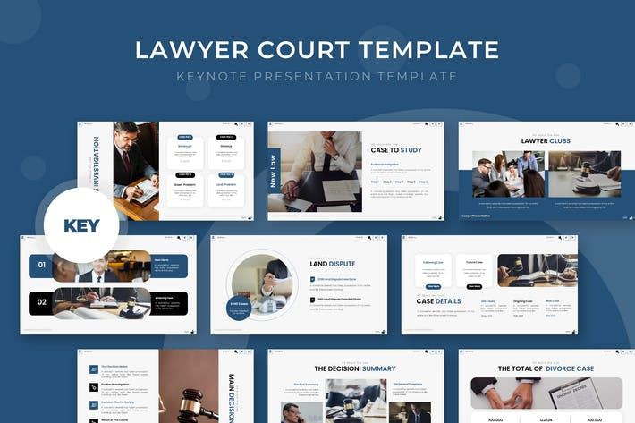 Thumbnail for Lawyer Court - Keynote Template