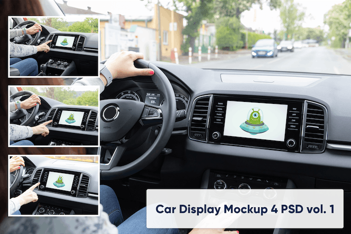 Thumbnail for Auto Display Vol. 1 - 4 PSD Mock-ups