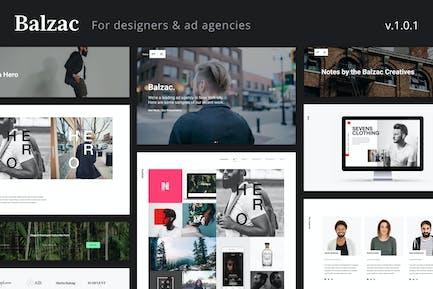 Balzac - Eine kreative HTML5-Vorlage für Agenturen