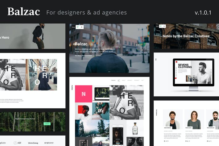 Thumbnail for Balzac - A Creative HTML5 Template for Agencies