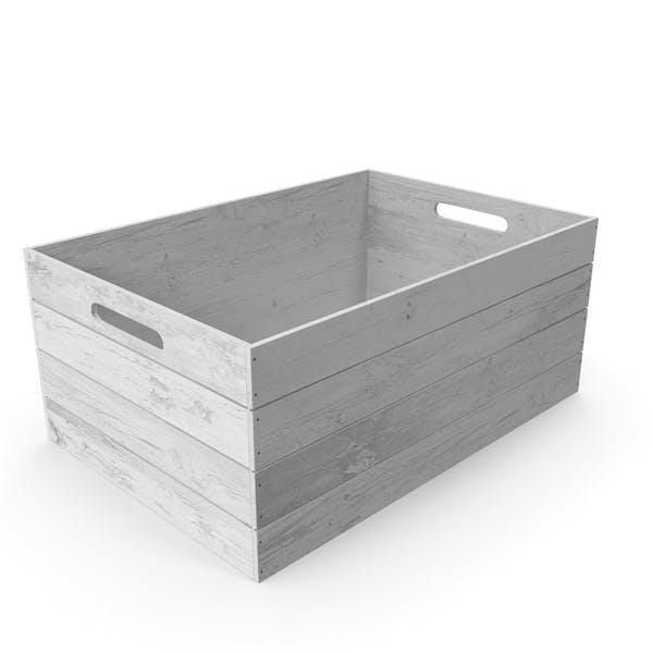 Vintage Wooden White Box