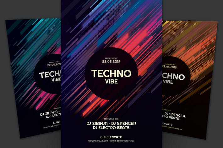 Thumbnail for Techno Vibe Flyer