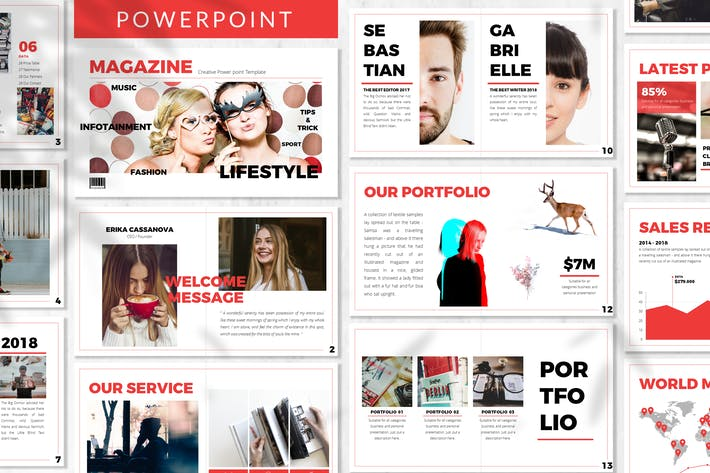 Magazine - Business Powerpoint Template