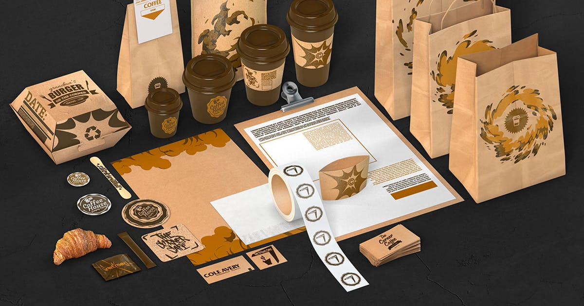 Download Coffee Cafe Branding Identity Mockup by bangingjoints