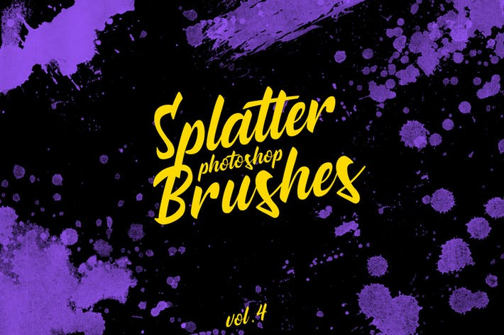 Thumbnail for Splatter Stamp Photoshop Brushes Vol. 4