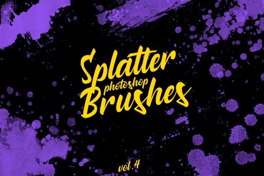 Splatter Stamp Photoshop Brushes Vol. 4