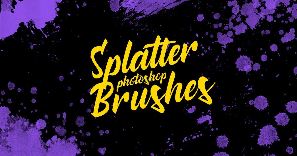 Download Splatter Stamp Photoshop Brushes Vol. 4 by FreezeronMedia