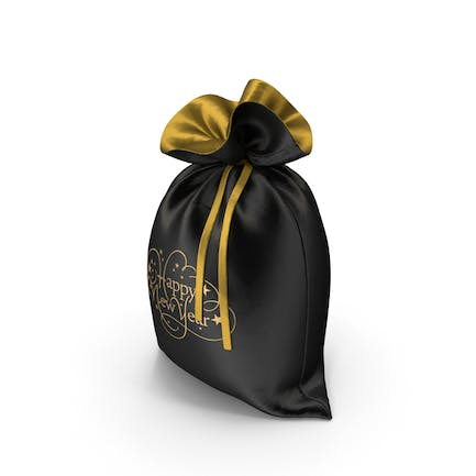 Black Happy New Year Bag with Gifts