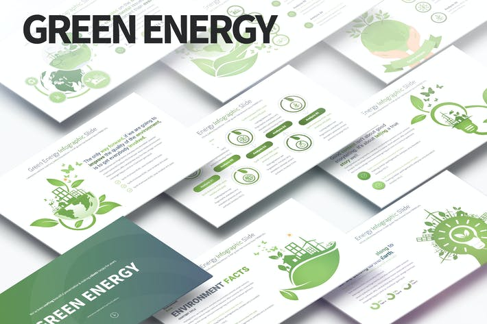 Зеленая энергия - Слайды Инфографика PowerPoint