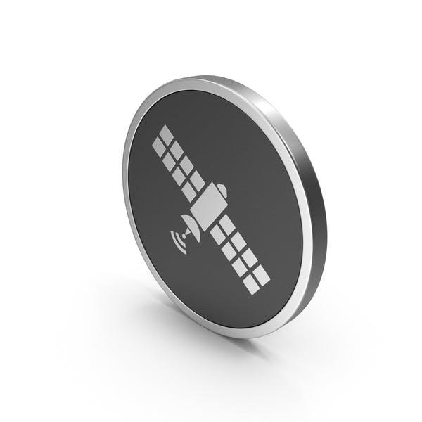 Silver Icon Satellite