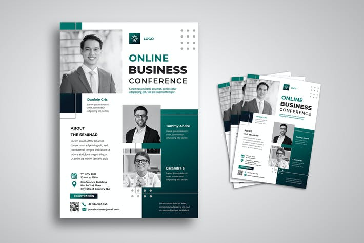Thumbnail for Online Business Conference Flyer