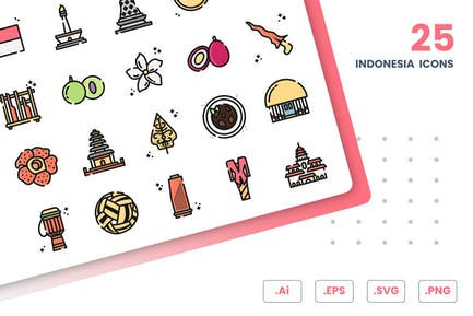 Indonesia Icons Set