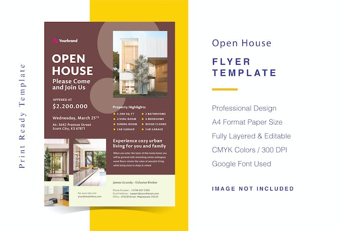 Thumbnail for Open House Flyer Template