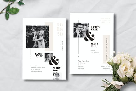 Simple Wedding Invitation 06