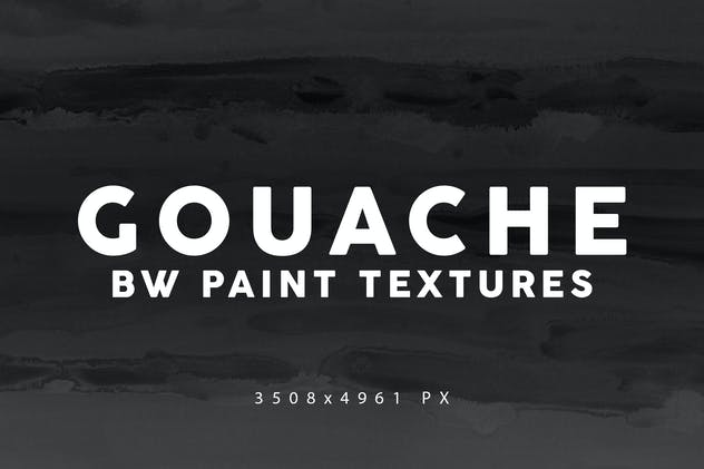 Black & White Gouache Textures