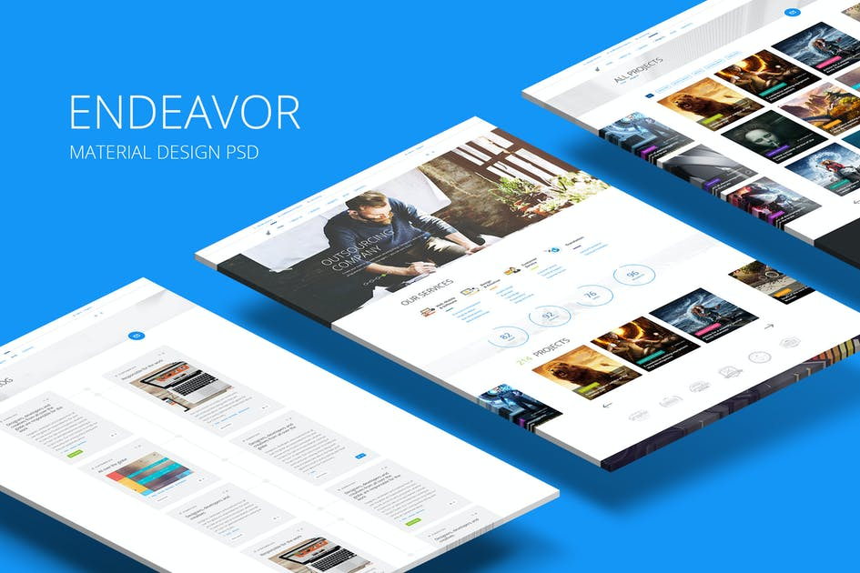 Download Endeavor — Multipurpose IT/Digital Company PSD by torbara