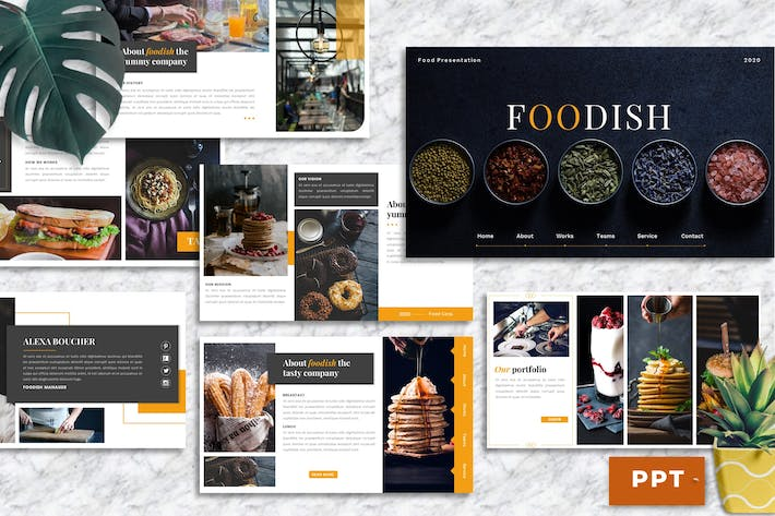 Thumbnail for Foodish – Food & Beverage PowerPoint Template