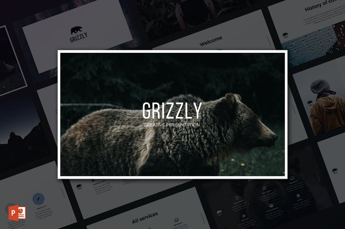 Thumbnail for Grizzly PowerPoint Template