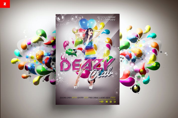 Thumbnail for Deazy Club Flyer