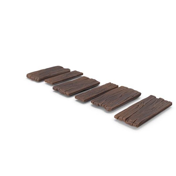 Стилизованная деревянная дорожка